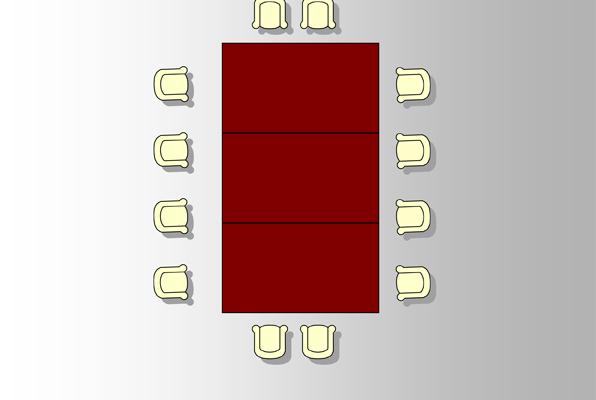 Vergaderen aan één tafel, breed